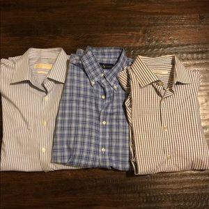 Men's button down Dress shirt Bundle